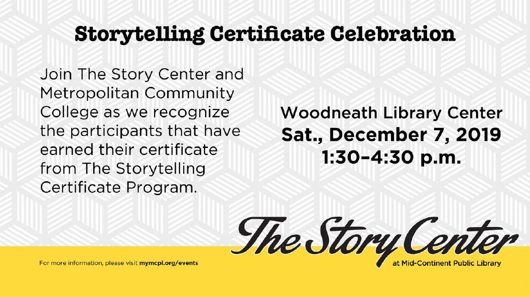 Storytelling Certificate Celebration